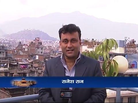 Rajesh Raj DD News Reporting from Kathmandu on Tourism in Nepal