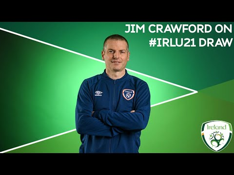 #IRLU21 Manager Jim Crawford reacts to Ireland's UEFA European U21 Championships Qualifiers draw