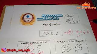 PREDIKSI ANGKA SINGAPORE KAMIS 16 JANUARI 2020