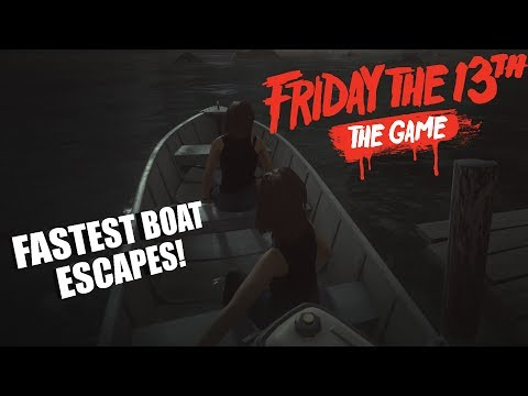 Friday The 13th: The Game Counselor GAMEPLAY | QUICKEST BOAT ESCAPES!