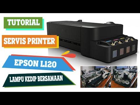 Reset Epson L120 print blinks alternately.