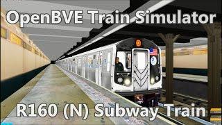 OpenBVE ►N Train Astoria to Coney Island!◀ (R160)