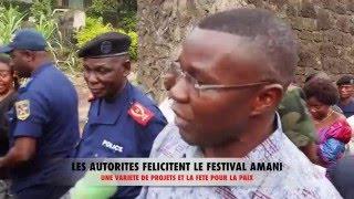 Ministre Salomon BANAMUHERE et le Gouverneur JULIEN PALUKU AU FESTIVAL AMANI  reportage  Radiotelevi