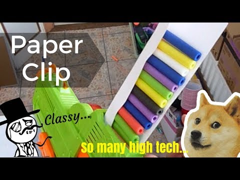 """New Nerf Rev Reaper Mod: """"Paper Clip"""" Nerf Mag Mod... Nerf Zombie Strike Reloading Trick and Hack!!"""