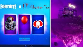 *NEW* FREE Fortnite IT 2 Rewards & PENNYWISE'S HOUSE POI (Fortnite IT Chapter 2 Event)