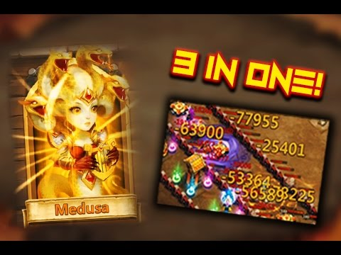 Castle Clash: Medusa ❚ 3 In One!