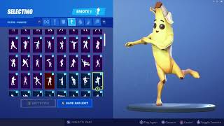 *UPDATED* Fortnite Peely Skin Outfit Showcase with All Dances & Emotes