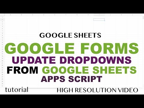 Google Forms - Drop Down List From Spreadsheet Using Apps Script