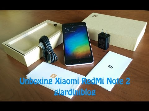 Unboxing Xiaomi RedMi Note 2