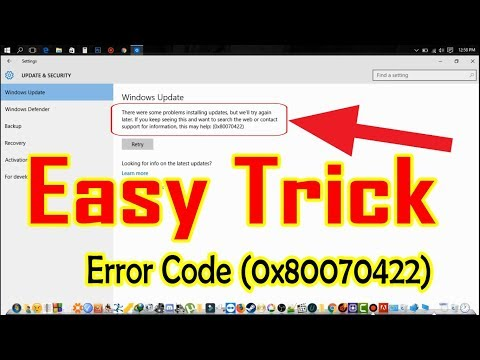 How to Fix Windows Update Error 0x80070422    Easy Tricks