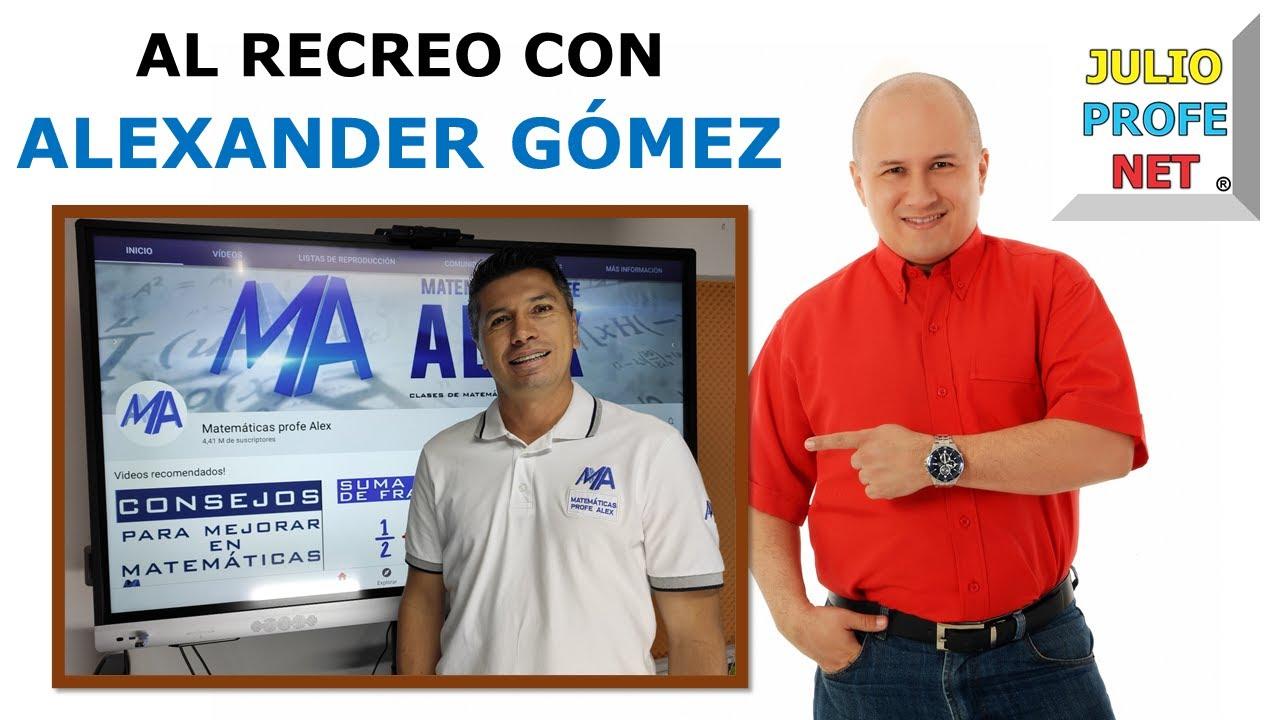AL RECREO CON @Matemáticas profe Alex