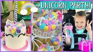 GRETCHEN'S UNICORN BIRTHDAY PARTY & PRESENT OPENING!