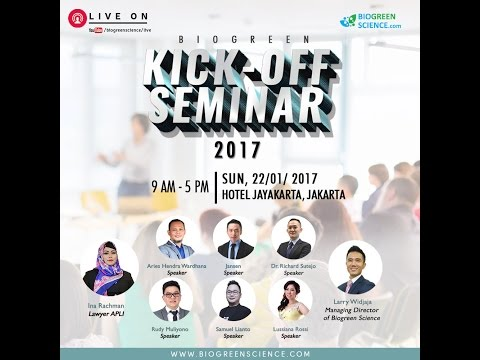 BIOGREEN SCIENCE - Kick Off Seminar Jakarta (22 January 2017)