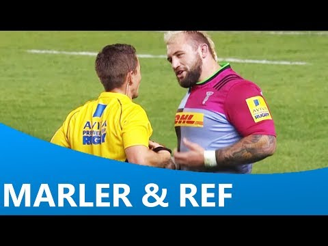 Joe Marler's conversation with the referee