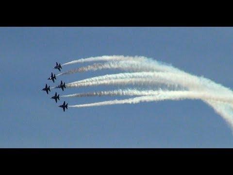 Blue Angels On Virginia V  Seafair Hydroplane Races Aug 2018
