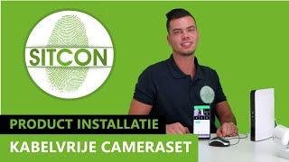 Installatie video kabelvrije camera sets