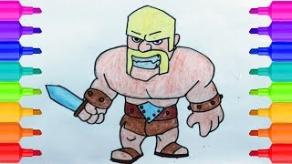 Clash of Clans | How to Draw Barbarian | Easy Step by Step Drawing for Kids | Coloring Pages for Kid