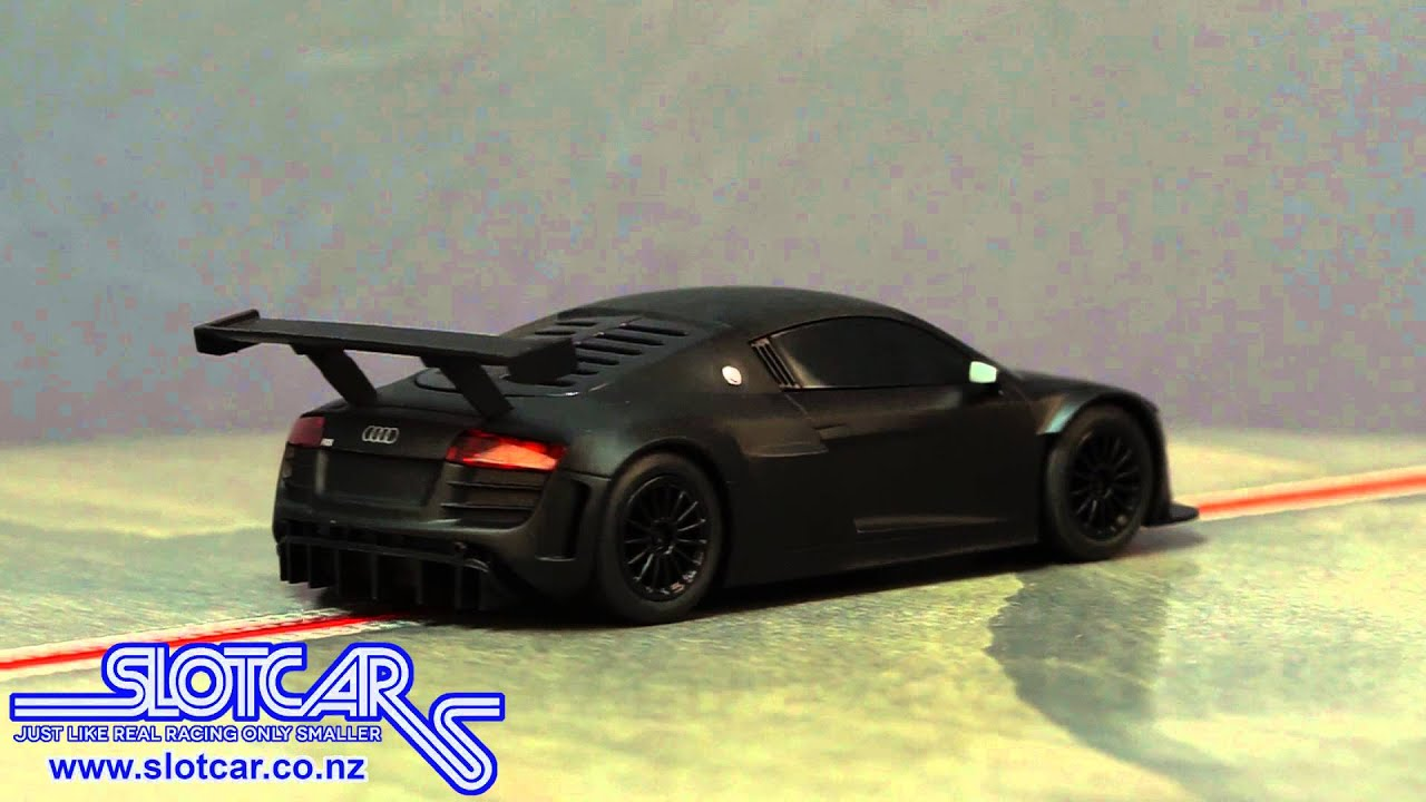 C3663 Scalextric DPR Slot Car Audi R8 Matt Black Slotcar