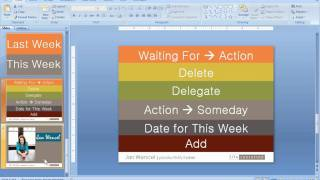 Live GTD Weekly Review Using Outlook