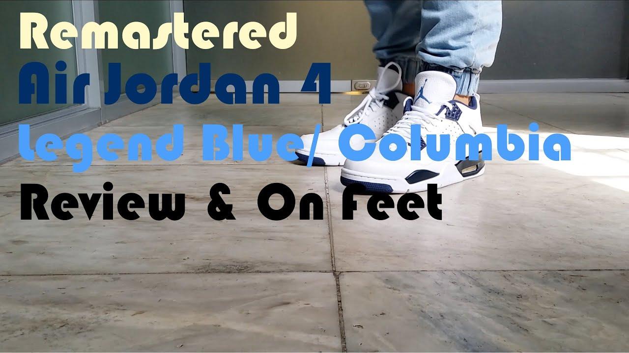 various colors 4f777 1398b Air Jordan 4 Columbia   Legend Blue   Review   On Feet