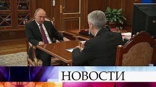 Сергей Собянин рассказал президенту о положении дел в столице, в том числе о рекордах метро.