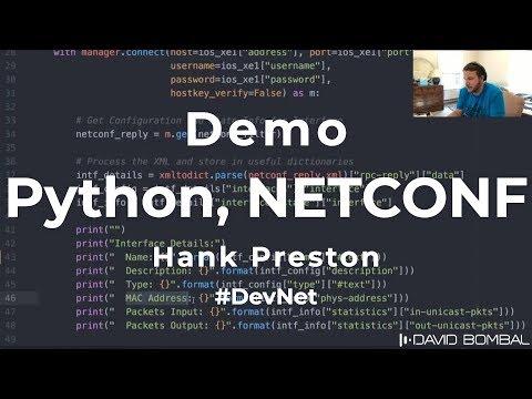 NETCONF, RESTCONF, YANG Demos (API vs CLI): David Bombal interviews Hank Preston (Part 2)
