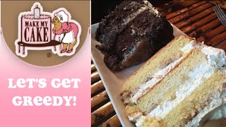Banana Pudding Cake & German Chocolate Cake On Let's Get Greedy! Food Review #51