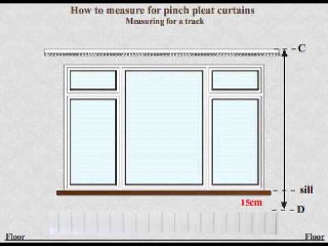 Curtains Online Video tutorial - How to Measure for Made to Measure Pinch Pleat Curtains Track