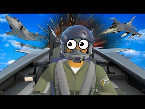 VR Jet Dogfight Leads to Plane Crash Survival! - VTOL VR Valve Index Gameplay |