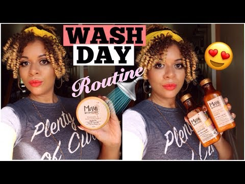 Natural Hair Wash Day For EXTRA MOISTURE | Maui Moisture Curl Quench Review