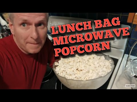 How To Make Microwave Popcorn Using Brown Paper Lunch Bags