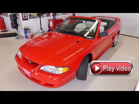 SOLD SOLD SOLD 1994 Form Mustang GT Convertible 39k Actual Miles