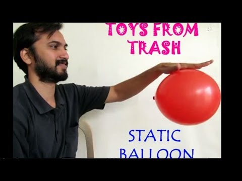 Static balloon english fun experiment with static electricity youtube - Remove static energy ...