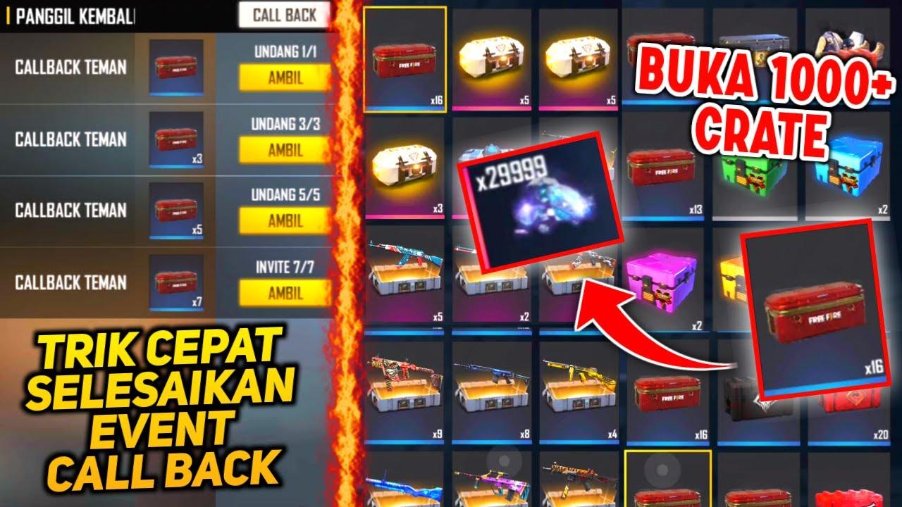 BUKA 1000+ LOOT CRATE DIAMOND!! TRIK CEPAT SELESAIKAN EVENT CALL BACK