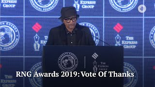 RNG Awards 2019: Vote Of Thanks By Raj Kamal Jha, Chief Editor Of The Indian Express