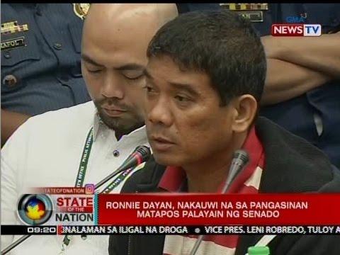SONA: Ronnie Dayan, nakauwi na sa Pangasinan matapos palayain ng Senado