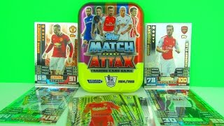 Match Attax 2014/2015 Trading Cards Collectors Tin Review & Unboxing, Topps