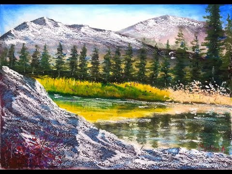 Mountain View - Oil Pastel Painting Lesson