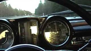 0-180 km/h Mercedes Benz W111 250SE Coupe 1967 . Heckflosse Fintail . Top Speed