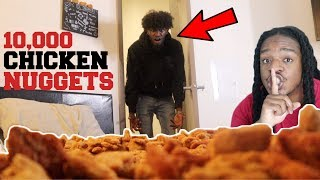 Filling My Best Friend's Bedroom With 10,000 CHICKEN NUGGETS!