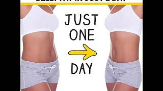 How to remove belly fat in 1 day steps are
