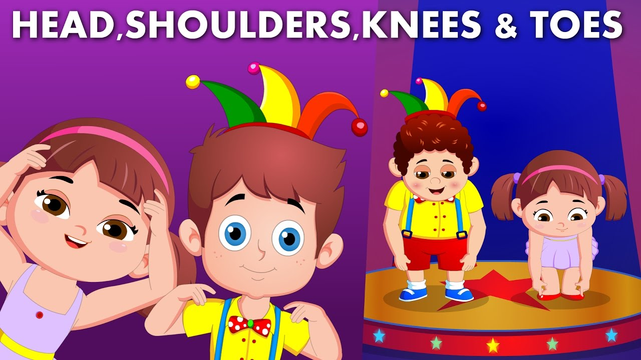 head shoulders knees toes flickbox nursery rhymes children songs parts body