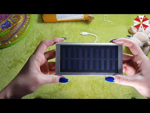 "Новая посылка с #aliexpress ""Powerbank 30 тыс MАч на солнечных батареях"" за 14$"