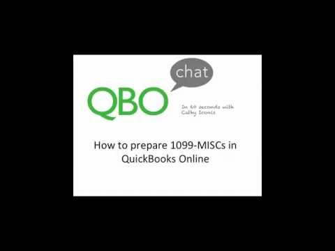 How To Prepare A 1099 MISC In QuickBooks Online