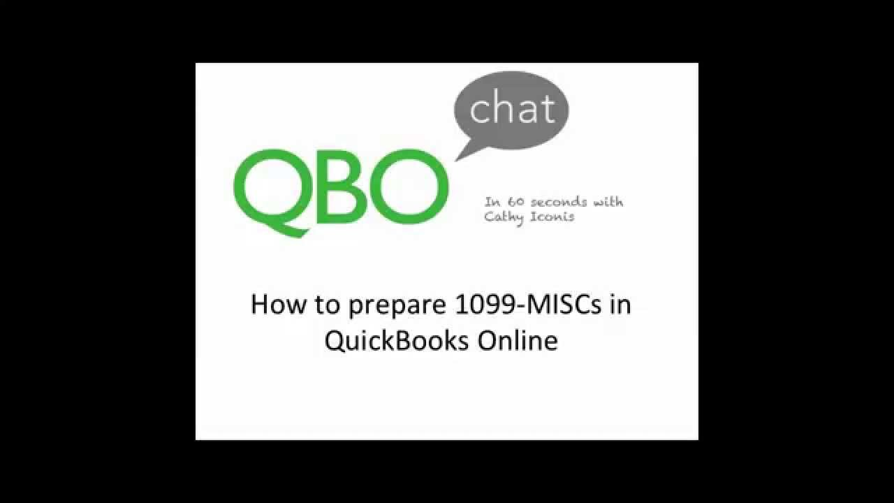 How to prepare a 1099 misc in quickbooks online youtube how to prepare a 1099 misc in quickbooks online falaconquin