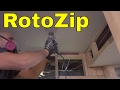 How To Use The RotoZip Roto Saw-Cutting Through Drywall