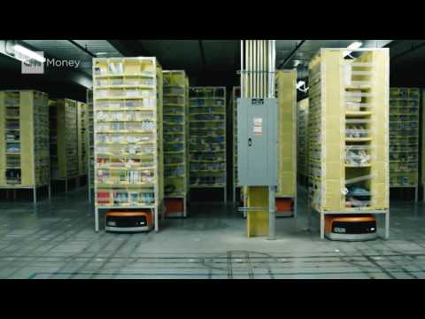 Human hands barely touch Amazon packages cnnmoney 2016 10 06 amazon automated warehouse cnnmoney cnn