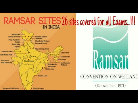 26 Ramsar Conventional Sites in India - Wetland Conservation - Tech Tablet - Varun Rao