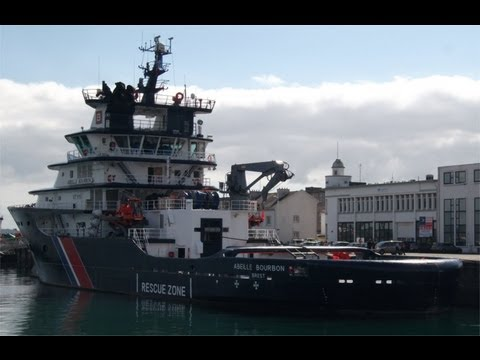 Abeille Bourbon - massive Salvage Tug moored at Brest Harbour