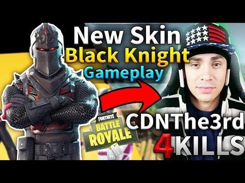 NEW SKIN BLACK KNIGHT CDNThe3rd Solo Game #58 (Fortnite Battle Royale)